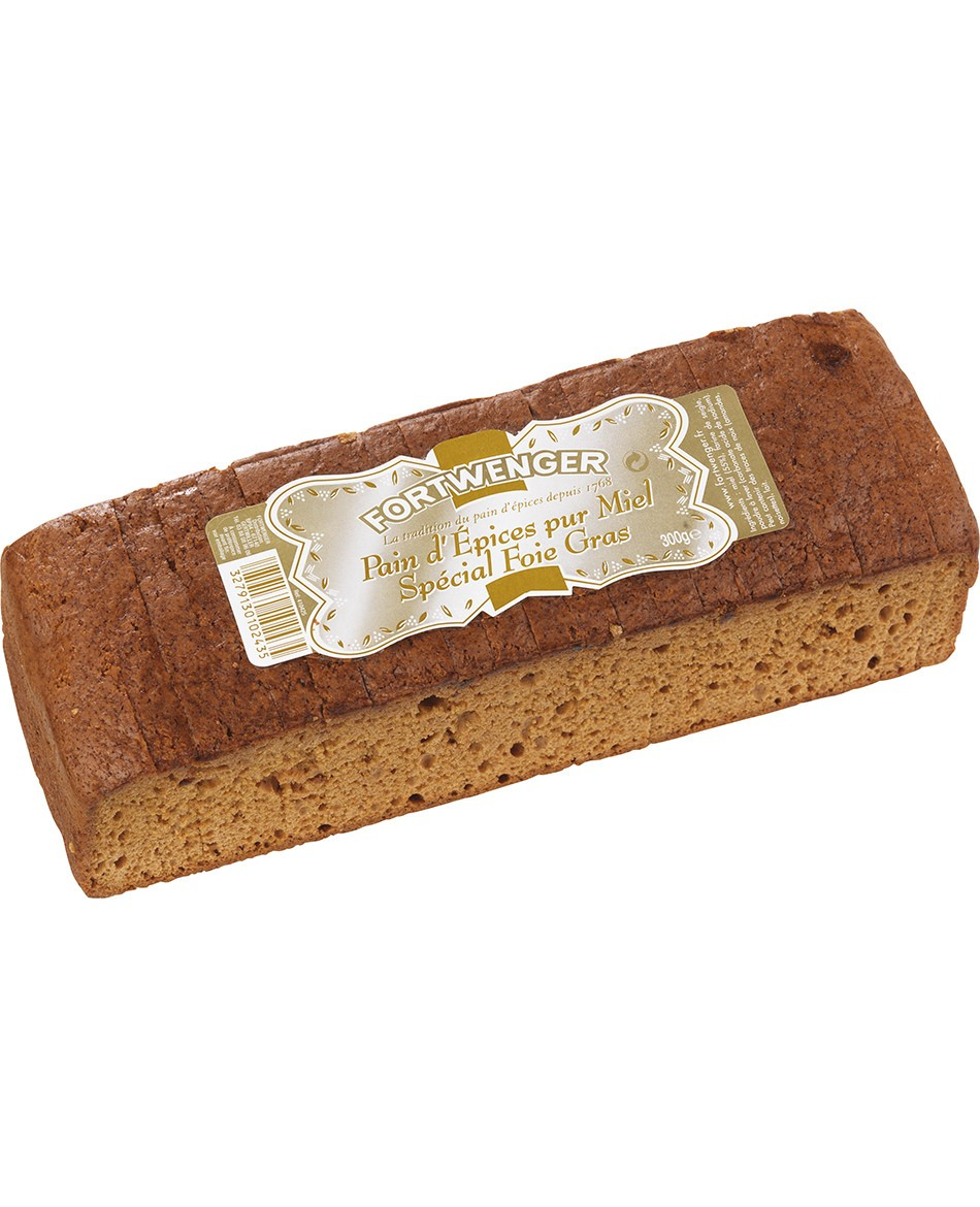Pure honey gingerbread for foie gras