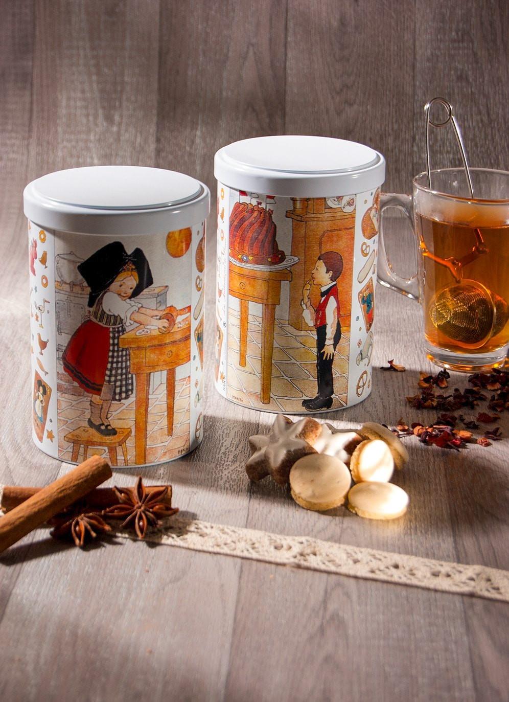 Tea tin with Hansi