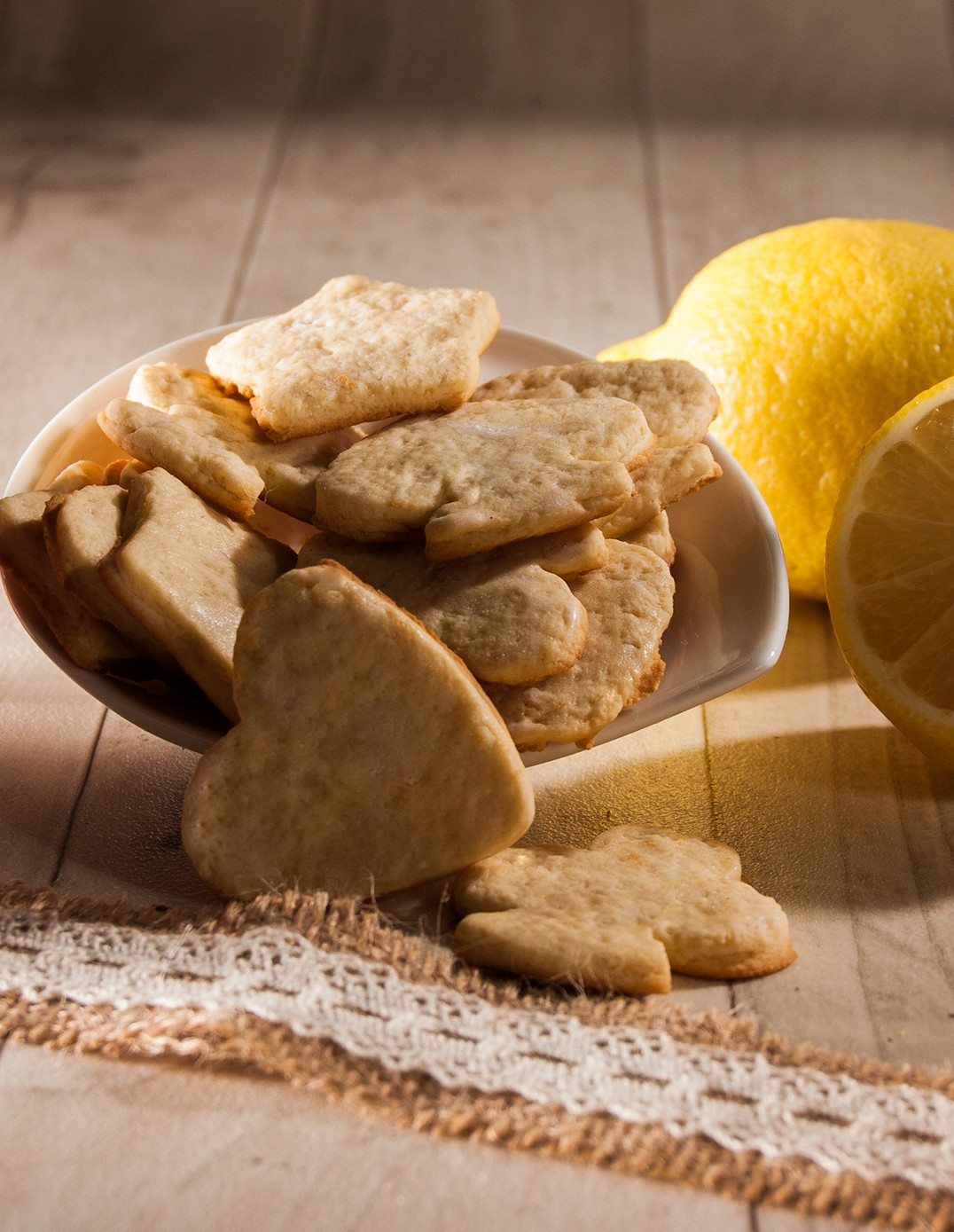Uncle Hansi's Biscuit Factory: lemon shortbread biscuits