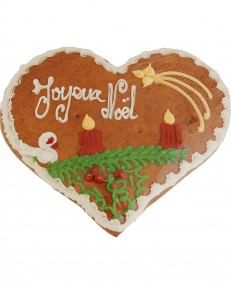 Alsatian gingerbread heart decorated for Christmas