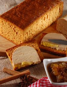 Pure honey gingerbread for foie gras