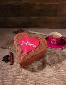 "Coeur au miel ""Je t'aime"""