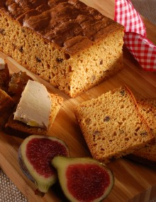 Special fig gingerbread for foie gras