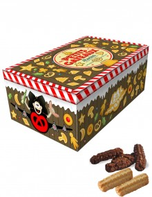 """Sugar tin with Bretzel Airlines """"Cakes"""" decoration"""