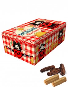 """Sugar tin with Bretzel Airlines """"Confectionery"""" decoration"""