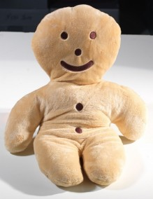 "Large ""Mannele"" gingerbread man soft toy"