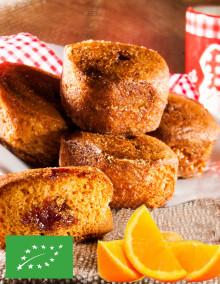 5 organic minis Nonnettes honey cakes with orange filling