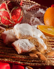 Mini Stollen with marzipan and orange