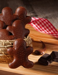 Gingerbread Man covered with milk chocolate