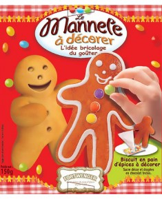"Decorate-you-own ""Mannele"" gingerbread man"