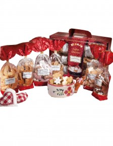 Gourmet gift box with 6 assorted packs of gingerbread