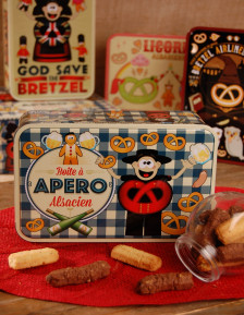 "Sugar tin with Bretzel Airlines ""Aperitif"" decoration"