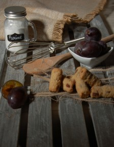 Small stollen with damsons